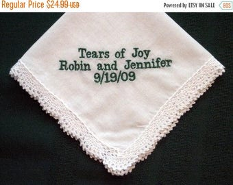 ON SALE Simple and Sweet Wedding Hanky with Gift Box 53B