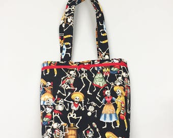 Tote Bag - Day of the Dead Black