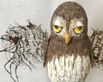 Pygmy Owl Carving - USA - OOAK