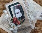 pretty girls - junk journal - paper bag journal - NO061