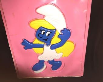 Vintage Smurf Plastic Puzzle