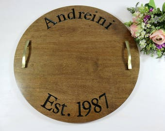 Personalized Wood Trays - Engraved Serving - Unique Gift Ideas - Name Serving Tray - Wooden Serving Tray - Kitchen Decor - Serving Board