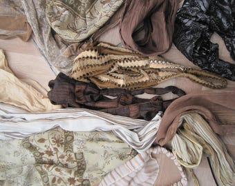 Vintage headscarves, lot of vintage headbands, headscarf, Animal print scarves, bandanas, FREE shipping
