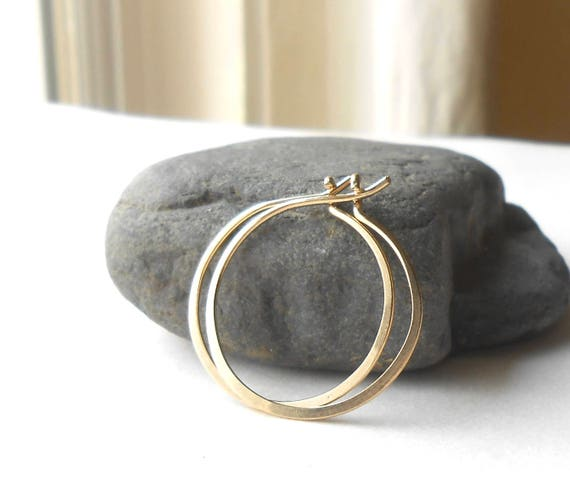 Small Gold Filled Wire Hoop Earrings
