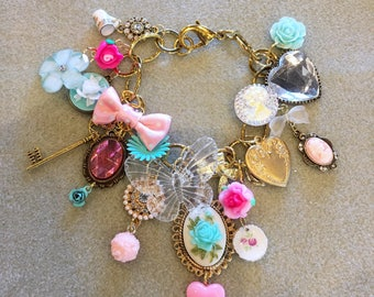 The Sweet Life Marie Antoinette Eat Cake Kawaii Charm Bracelet