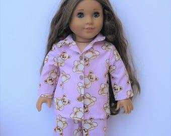 "Clothes for American girl,Journey Girl,Madame Alexander,Newberry,Battat,Springfield,Gotz,My life 18"" Doll Pajamas"
