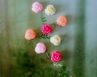 Miniature Rose 12 Piece, Flower Embellishment,Decoration, Miniature Flowers, Fairy Garden,Terrarium Flower, Floral Supply,Flower for Crafts