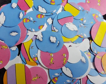 CLEARANCE Dr. Seuss Oh the Places You'll Go! Themed Party Confetti (100)-  Clouds, 3 sizes