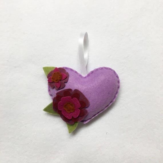 Lavender Heart Ornament, Flower Ornament, Christmas Ornament, Anniversary Gift, Christmas Decoration, Nature Lovers