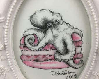 Octopus Macaroon - Small Drawing