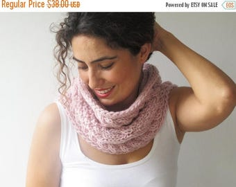 50% CLEARENCE Light Pink Cowl - Scarf by Afra