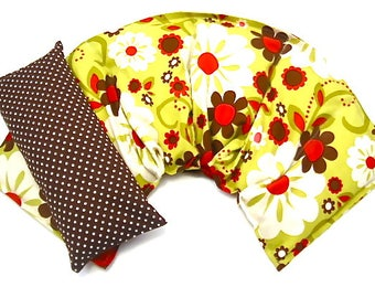 Neck Wrap Extra Wide/Eye Pillow Set, Hot Cold Therapy, , Microwavable,Heat Pack,Heating Pad Gift Idea Holiday For Her