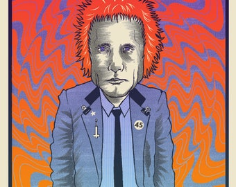 2017 Limited Edition MELVINS/Redd Kross Screen Printed poster by Brian Methe Australia