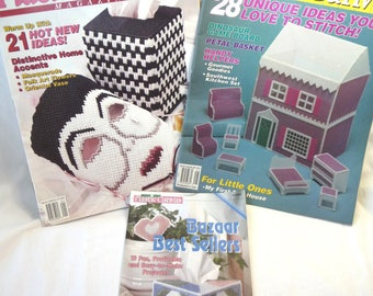 Plastic Canvas Magazines, Plastic Canvas Patterns, Three Magazines, Sewing Patterns, Sewing Supplies, Unique Gift Ideas, Craft Magazines