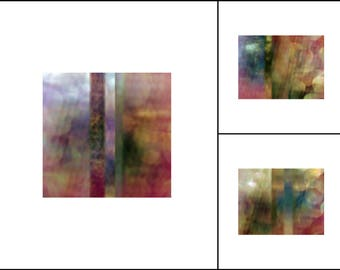 Twilight ~ Bold Boho Style Abstract Color Photography Collection ~ Set of 3 ~ Original Photography by Suzanne MacCrone Rogers