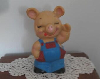 Vintage Piggy Bank Large Plastic Pig