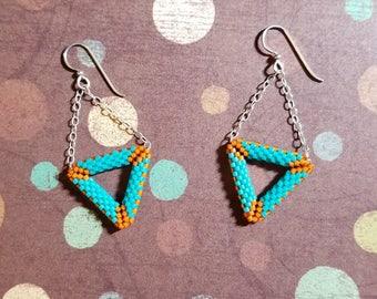 Vibrant Geometry Earrings