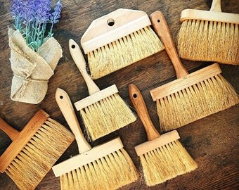 Like Watching Paint Dry... Vintage Collection of Brushes Applicator For Masonry Paints Whitewash Wallpaper Paste Paint Brush Farmhouse Decor