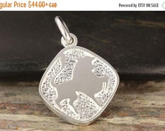 MATERNITY LEAVE SALE Taurus zodiac pendant in sterling silver - double sided, Taurus necklace, zodiac necklace, zodiac jewelry, bull