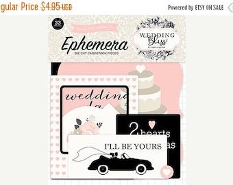 NOW ON SALE Echo Park Wedding Bliss Ephemera Pack