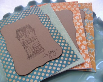House Card Set, Blank Card Set, Thank You Cards, Real Estate Agent, New Home, First House, Architect, Architecture, Moving, Housewarming
