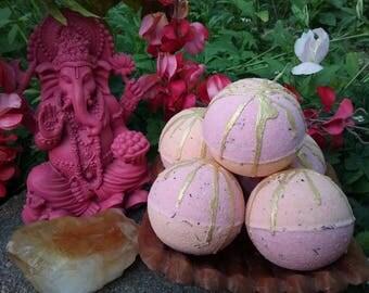 Ganesha Prosperity, Abundance, Removing Obstacles Reiki-Charged Bath Bomb Natural Handmade Bath Fizzy Ritual Bath