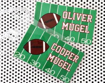 Football Bag Tag, sports Bag Tag - football - Luggage Tag - Bag Tag
