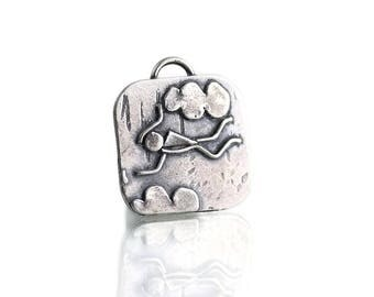 Skydiving Jewelry - Sterling Pendant - Skydiver Gift - Outdoor Womens Fashion