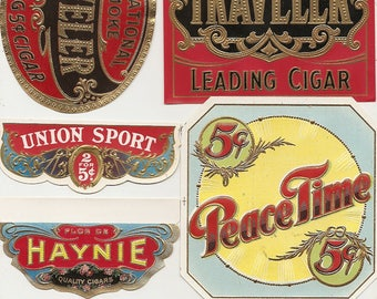 29 different 1930s plus TOBACCO and CIGAR LABELS Due to the continuing Ofac sanctions against Cuba origin of labels from u.s.