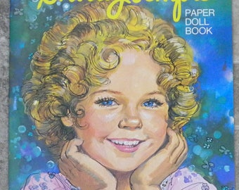 Whitman Shirley Temple Paper Doll Booklet - Uncut - Like New