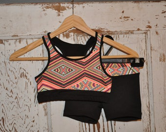 Racer Back Crop Top and Matching Shorts