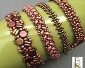 Quad Wrap - a multi-wrap herringbone variation bracelet tutorial by Beth Stone - Beading beadweaving pattern instruction seed bead jewelry