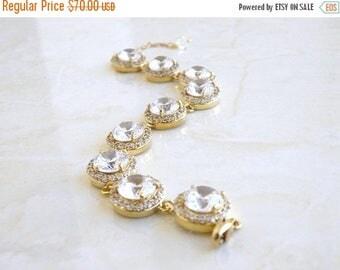 Summer Sale Bridal Bracelet Cubic Zirconia Gold CNB4G