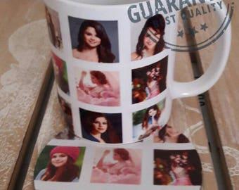 Selena Gomez   coffee mug cup with coaster
