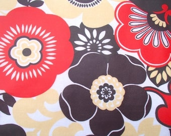 Vintage oilcloth / fabric / original 60s / polyester / flower