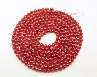 Vintage Christmas Decoration Red Glass Bead Garland Christmas Tree Garland
