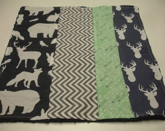 Gentle Woods Baby Burp Cloth 14 x 15 READY TO SHIP