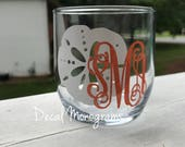 Sand Dollar Monogram Vinyl Decal