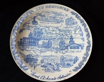 New Hampshire Souvenir Plate c.1940