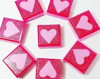 Gift Women. Girlfriend Gift. LOVE SOAP. Gift for Her. Hearts, Pink Sugar, Featured on Tori Spelling EdiTORIal, I love you gift, Mom Gift