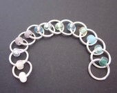 Soft Cloud Fade - Stitch Markers - Set of 13 - Size US7 - One-of-a-Kind