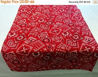ON SALE BANDANA Cowboy Linens -Table Runner, Napkins, or Tablecloth, Blue, Red, Pink, cowgirl, rodeo, party, event, photo shoot, wedding, br