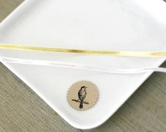 """Silver or Gold Metallic Lame ribbon twine 1/8"""""""