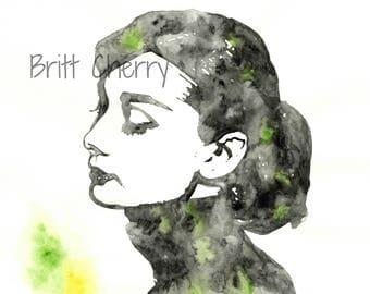 8x9.5 Original | Audrey Hepburn