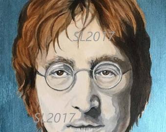 John Lennon, original acrylic painting, The Beatles