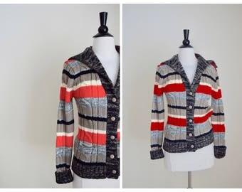 70s BoHo Cardigan - 1970s Hippie Sweater