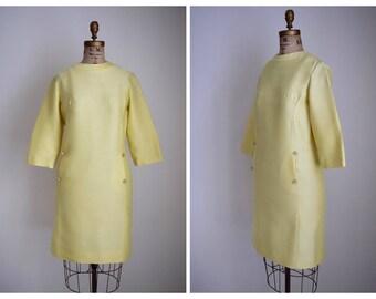 Vintage R&K Original Dress | 1960s Yellow Sheath Dress | volup