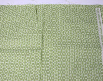 OOP Lizzy House for Andover Fabric Outfoxed Jewels in Light Green, 1/2 yard