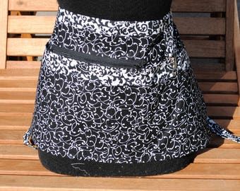 Handmade Vendor Apron  Utility Craft Farmers Market Teacher Black White