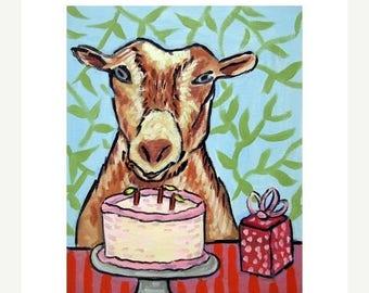 20 % off storewide Goat Birthday Art Print